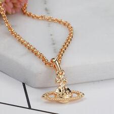 Vivienne No small drill Saturn necklace matte VE16014691 NANA /No box/Gold