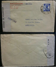 India Cover to London 1941 Sea Mail Opened by Examiner Postal History