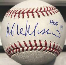 Mike Mussina Yankees Signed Auto Snow White ROMLB Baseball HOF'19 Pass PSA JSA