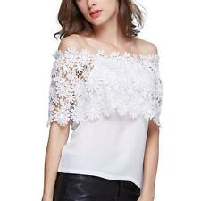 Unbranded Lace Floral Sleeveless T-Shirts for Women