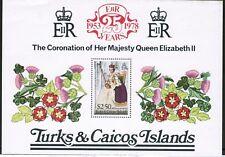 Turks and Caicos Islands 25th Anniversary Coronation 1978 SG MS498 MNH UMM
