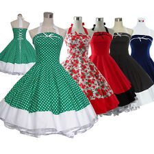 b70b6d8cd9 Vintage Retro Dancing Party Ball Swing Jive Rockabilly Skirt 50s 60s Dress  Type2
