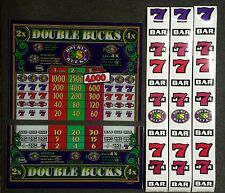 IGT S2000 or S-Plus Slot Machine DOUBLE BUCKS Glass Kit with Top Belly Strips