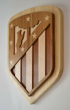 Escudo de madera Atletico de Madrid futbol football wood shield atleti