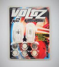 Voltz Led Bicycle Wheel/Tyre Lights/Caps,Safety,Bike,Blue Rim Strobes,F/Free P&P