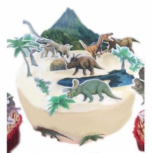 Dinosaurier Jurassi eßbar Muffin Tortenaufleger Party Deko Tortenbild Geburtstag