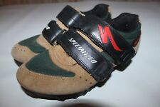Specialized Sport MTB Men's EU 37 US 5.5 Brown Leather Cycling Bike Shoes Cleats