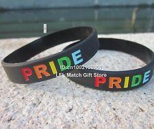Unisex Gay Pride Rainbow Bracciale in silicone-acquistare 5 risparmiare il venticinque per cento-NUOVISSIMO