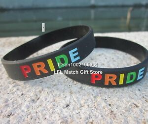 Unisex Gay Pride Rainbow Silicone Bracelet - Buy 5 Save 25% - Brand New