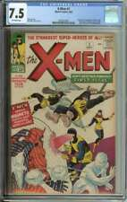 X-MEN #1 CGC 7.5 OW PAGES // ORIGIN + 1ST APPEARANCE OF X-MEN 1963