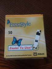 50 Freestyle Blood Glucose Test Strips Exp 11/30/20. New Sealed!