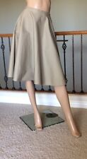 1739618ca UNIQLO WOMEN BEIGE COTTON HIGH-WAIST CIRCULAR SKIRT NWT SIZE M