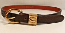 Dooney & Bourke Dark Brown Leather Extra Small All Weather Leather Belt Unisex