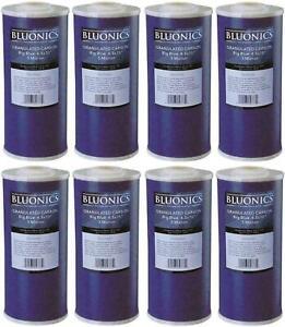 "BLUONICS 8 pcs GAC Granular Activated Carbon Water Filters 4.5"" x 10"" Cartridges"