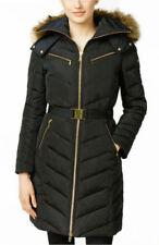 NWT Women Michael Kors Down Coat Zipper Chest Pockets, Black - L MSRP: $249.00