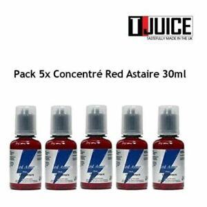red astaire T-JUICE arome concentré  lot de 5 flacons 30 ml