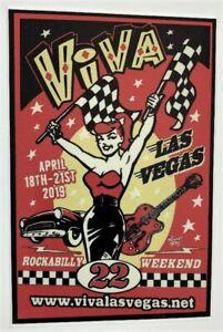 Main STICKER Decal Viva Las Vegas 22 Rockabilly Weekend Artist Vince Ray