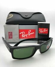 New RAY-BAN Sunglasses RB 4151 601/2P 59-17 Black Frames Green Polarized Lenses