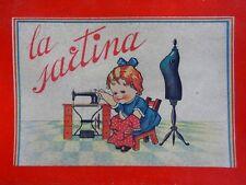 Ancien jouet coffret couture vêtement poupée ANNA MARIA La Sartina Italy 1930