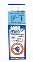 1983 ALCS ticket stub Baltimore Orioles Chicago White Sox Gm 1  LaMarr Hoyt WIN