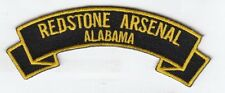 "Redstone Arsenal 4"" rocker tab embroidered patch"