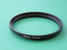 55mm-57mm Stepping Step Up Male-Female Lens Filter Ring Adapter 55mm-57mm
