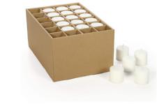 Hosley Set of 30 Bulk Pack White Votive Candles. Ideal for Seasonal Event Weddin