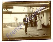 "4x3"" 1905 Albumen Photo, On Board Ship SS Princess Alice 2345"