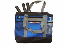 "PICKLEBALL MARKETPLACE ""Zipper Top"" Tote Bag-New/Embroidered -Blue, Black & Grey"