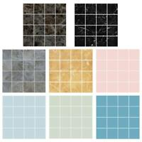 10pcs 10x10cm Waterproof Tiles Mosaic Wall Sticker Kitchen Bathroom Adhesive