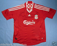 Liverpool FC / 2008-2010 Home - ADIDAS - JUNIOR Shirt / Jersey. Size: 12y, 152cm