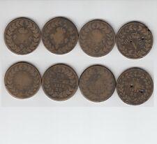 Gertbrolen   Blocus de Strasbourg Lot de 4 x  1  Décime Napoléon & Louis XVIII