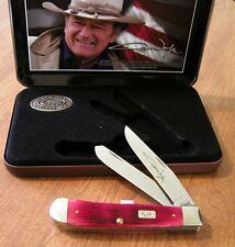 CASE XX New John Wayne Red Jigged Bone Handle 2 Blade Trapper Knife/Knives