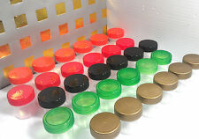30 Tiny Jars Color Caps Container Pot One Half Ounce Herbs 1 Tbl K3304 DecoJars