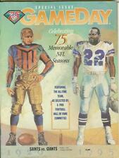 NFL 75th Anniversary GAMEDAY Saints vs Giants 1994 Commemorative Program Guide