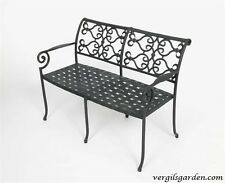 New listing Cast Aluminum Victorian French Garden Vera Cruz Bench - Antique Repro