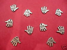 "Tibetan Silver ""hand made"" charms 10 per pack"