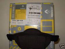 GENUINE RENAULT FRONT BRAKE PADS 7701209808 LAGUNA 2 15 WHEELS NEW