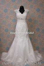 1377 White Ivory Wedding Dresses dress bridal gown Bernadette mermaid key hole