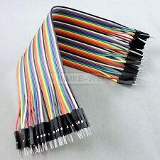 40x 20cm Male-Male jumper wire cable Kabel für Arduino Breadboard Drahtbrücken