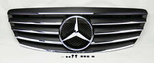 Mercedes S Class W220 03-06 Front Hood Sport 5 Fin Black Chrome Grill Grille