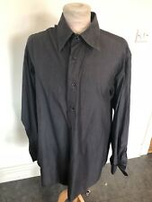 VINTAGE 80's JOOP BLACK BAGGY SHIRT LARGE