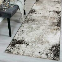 MICHIGAN BEIGE GREY URBAN ABSTRACT RAW MODERN FLOOR RUG RUNNER - 2 Sizes **NEW**