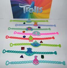 Dreamworks Trolls Movie  Party Favors Set of 8 Troll Bracelets and 8 Troll Gems