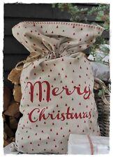 MERRY CHRISTMAS Trees Giftbag, XL Weihnachtssack 40x70cm Artefina   X-MAS