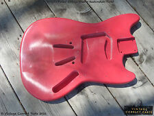Vintage 1960's Fender Mustang Body Fiesta Red PRE-CBS Project 1964 1965 1966 !!!