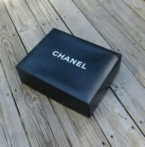 """Chanel Empty Box For Shoes Purse Black Size 15"""" x 11.75"""" X 4.75"""" Gift Storage"""