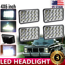 "4pc 4x6"" LED Headlight Sealed Hi/Lo Beam H6451 H6456 For Chevy K10 K20 K30 82-92"