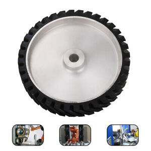 """12"""" 300mm Rubber Serrated Belt Grinder Contact Wheel for Polishing Tool 1"""" Hole"""