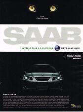 PUBLICITE ADVERTISING 124  2006  SAAB   la nouvelle 9-5 BIOPOWER